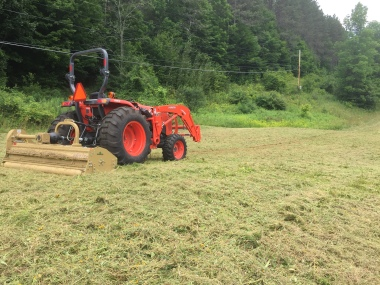 Kubota with Land Pride Mower