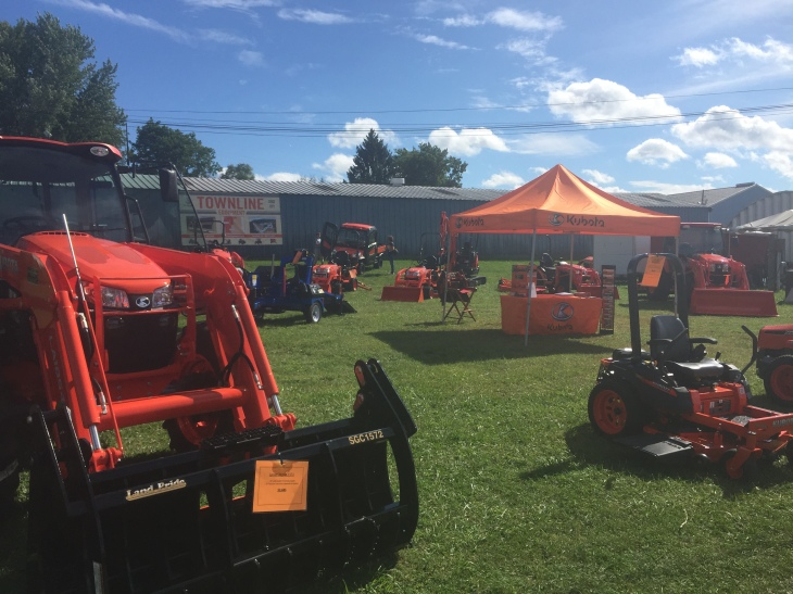 Townline Equipment and Kubota at the Vermont State Fair in Rutland Vermont