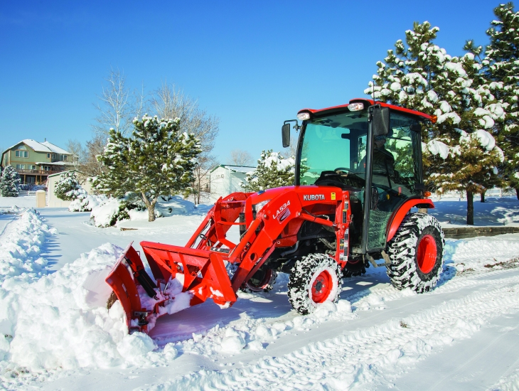 Front Mount Tractor Snow Plow : Winter solutions the kubota b compact tractor